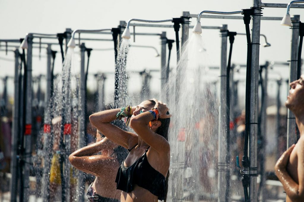 ducha festival de verano