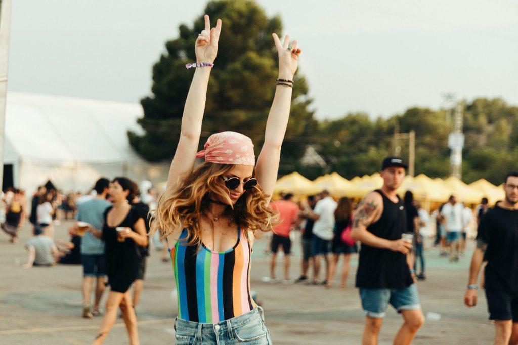 disfrutando festival de verano