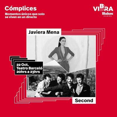 Cartel Concierto Second y Javiera Mena